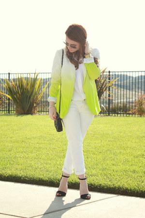 asos blazer - Les Halles jeans - Equipment blouse - Zara heels