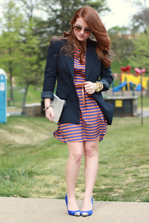 Francescas Collections dress - Forever 21 blazer - Stephanie Johnson bag