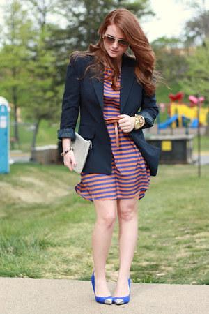 Francescas Collections dress - Forever 21 blazer - Stephanie Johnson bag