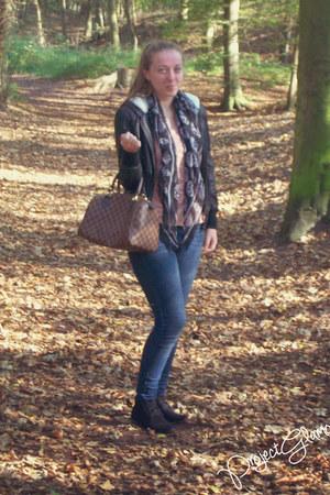 lindex jeans - Primark jacket - Louis Vuitton bag - H&M t-shirt