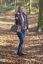 lindex jeans - Primark jacket - Louis Vuitton bag - H&M t-shirt