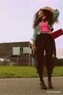 Black-primark-shoes-light-blue-primark-jacket-hot-pink-primark-purse