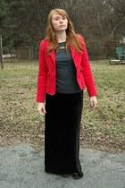 Forever 21 blazer - Lands End Canvas shirt - thrifted skirt