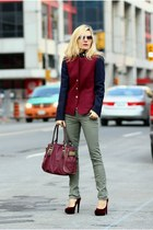 JCrew jacket - Guess bag - Zara pants - H&M heels
