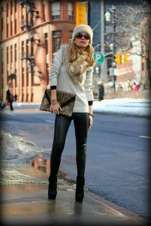 H&amp;M sweater - Via Spiga boots - Forever21 leggings - H&amp;M bag