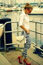 Urban Behaviour bag - Zara shirt - Urban Behaviour pants - Guess heels