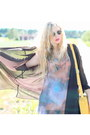 Galaxy-romwe-dress-black-transparent-acne-shirt-yellow-satchel-romwe-bag