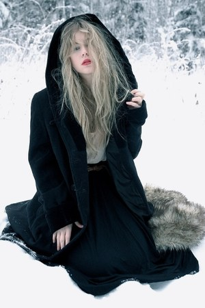 black vintage coat