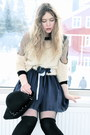 Black-combat-boots-thrifted-boots-navy-mina-uk-dress-cream-transparent-whole