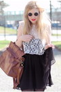 Black-lennon-80s-purple-sunglasses-black-chiffon-monki-skirt-white-lace-h-m-