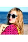 Yellow-satchel-romwe-bag-periwinkle-h-m-sunglasses-periwinkle-denim-monki-sk