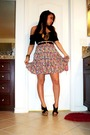 Pink-wrapper-skirt-black-american-apparel-dress-styluxe-shoes-silver-forev