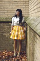 gold vintage skirt - gold Love Colour Love Tights tights - gray Jeffrey Campbell