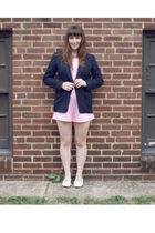 blue Pendleton jacket - pink Fine & Dandy Vintage - white trotters