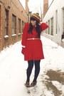 Red-vintage-dress-fur-vintage-coat