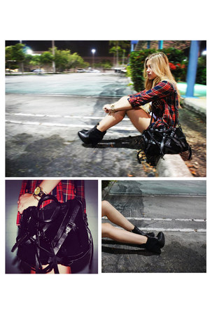 Alexander Wang bag - Zara blouse - sam edelman wedges