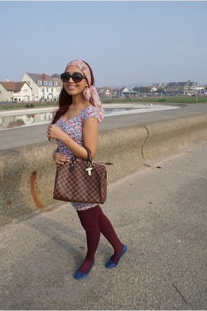 xs dress  shape H&M dress - Primark scarf - Louis Vuitton purse