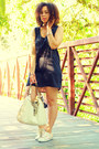 Cream-coach-shoes-black-lani-dress-cream-coach-bag