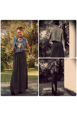 Jeffery Cambpell boots - Urban Outfitters shirt - Forever 21 skirt - vest