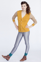 green American Apparel socks - gold American Apparel jacket