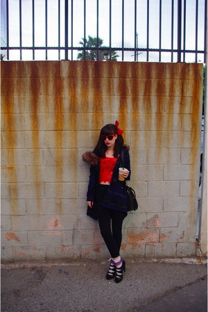 urbanoutfitters top - BB Dakota coat - Urban Outfitters jeans