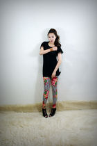 black 2BB3 dress - black 2BB3 shoes - 2BB3 leggings