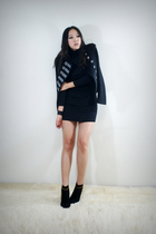 black style2bb3 jacket - black style2bb3 shoes - black style2bb3 dress