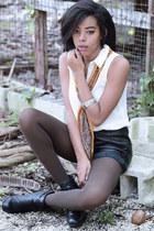 Primark scarf - Dolce Vita boots - merona top