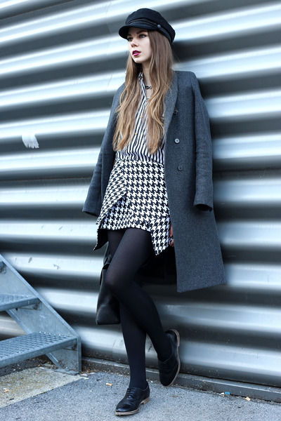 black 31 Phillip Lim bag - dark gray Zara coat - dark gray H&M hat