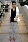 White-zara-blazer-black-stradivarius-pants-black-only-blouse