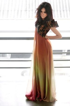 orange Eky Prawira dress