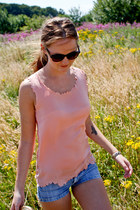 light pink Good Look top - sky blue H&M shorts - light purple H&M sunglasses