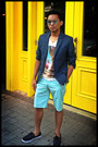 Teal-cotton-h-m-blazer-sky-blue-print-h-m-shirt-light-blue-cotton-h-m-shorts