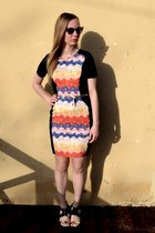 foxinflora dress - asos sunglasses - Ebay heels - asos belt