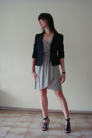H&M dress - Esprit jacket - Charls&Keith shoes