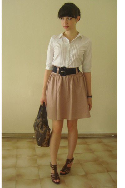 H&M blouse - H&M skirt - shoes
