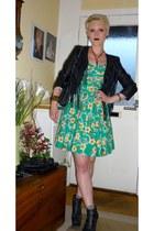 H&M boots - Primark dress - H&M jacket - Topshop bracelet