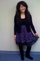 black Forever 21 dress - black Goodwill vest - black Target tights - black Ross