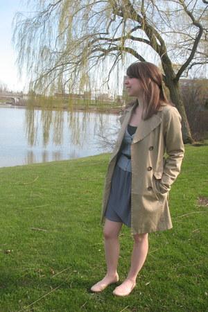 urban behavior cardigan - trench- petite H&M coat - Target top - Forever21 skirt
