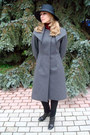 Yellow-promod-cardigan-charcoal-gray-max-mara-coat-black-giorgio-armani-hat