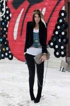 robert rodriguez blazer - Zara pants - Zara bag - H&M scarf - H&M boots - tallul