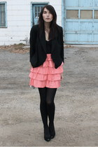 Zara blazer - H&M dress - Zara shoes - David Yurman necklace