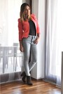 Dark-green-zara-boots-light-blue-h-m-jeans-salmon-zara-blazer