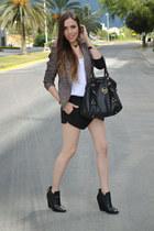 multicolor Target jacket - black assymetric Zara shorts
