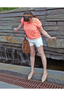 Studded-bag-urban-outfitters-bag-zara-shorts-striped-neon-gap-t-shirt