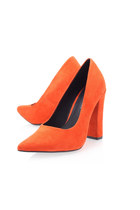 carrot orange Kurt Geiger heels