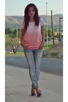 Lefties t-shirt - no name shoes - BLANCO jeans