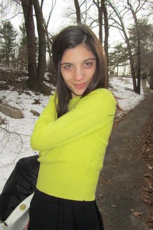yellow Diane Von Furstenberg sweater