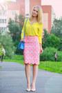 Yellow-esprit-blouse-bubble-gum-asos-skirt