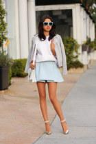 white loeffler randall bag - silver Joie jacket